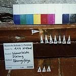 Kammer 1.1.4, Dielung und Leiste sind möglicherweise bauzeitlich, Fassungen sind identisch
