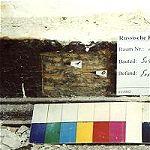 Kammer 1.2.4, die Schwelle des Fachwerks fungiert als Scheuerleiste, wahrscheinlich noch bauzeitlich