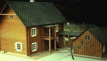 Haus Nr. 2 als Modell, Ansicht von hinten