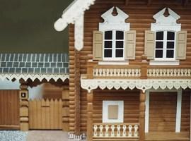 Frontansicht des Hausmodells von vorne