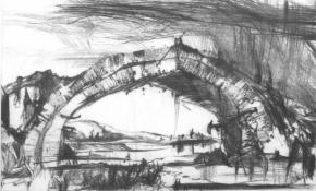 Usbekistan, Brücke bei Samarland, 1985