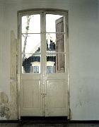OG, Balkontür der Stube im Obergeschoss, Westwand (1.2.3), die Tür ist nicht bauzeitlich, wahrscheinlich ist es ein früher Nachbau aus der Mitte des 19. Jahrhunderts